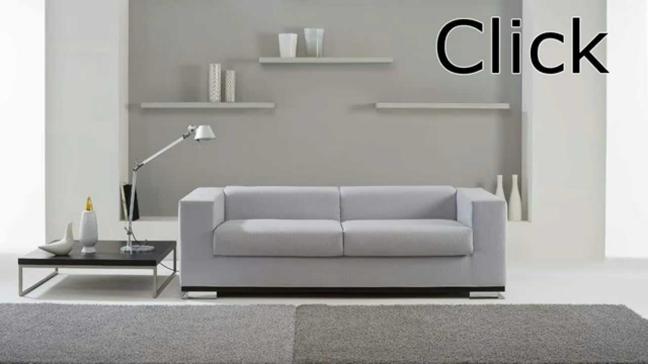 Divano letto click by youtube for Max 4 set letto