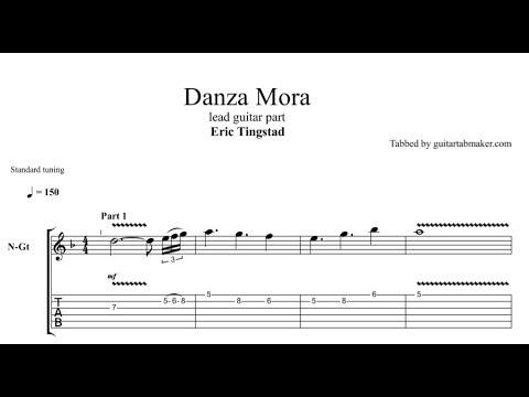 Danza Mora TAB - acoustic spanish guitar solo tab - PDF - Guitar Pro