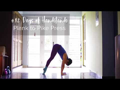 Plank to Pike Press Drill | YogaSlackers 12 Days of Handtands