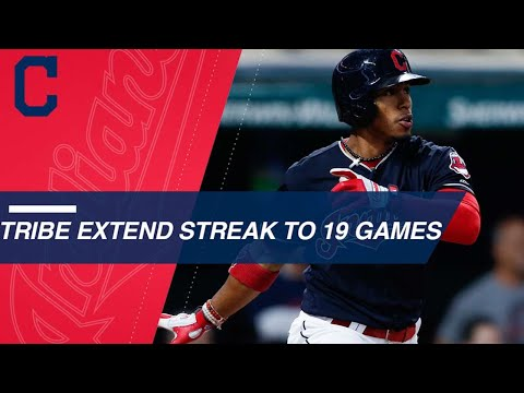 See the highlights of the Indians 19 game win streak