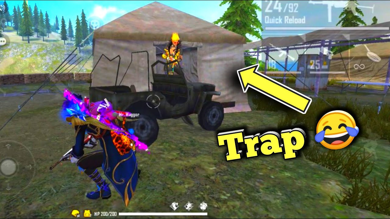 Trap Gone Crazy 😂 Free Fire Funny Shorts Video #Shorts #Short