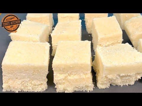 COCONUT BARS 3 Ingredient No Bake Dessert Recipe 4K