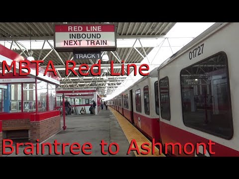 Riding MBTA Red Line from Braintree to Ashmont