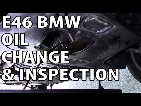 BMW 330i 325i E46 Oil Change and Inspection