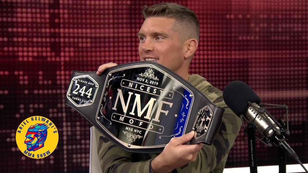 Stephen Thompson receives NMF belt | Ariel Helwani's MMA Show