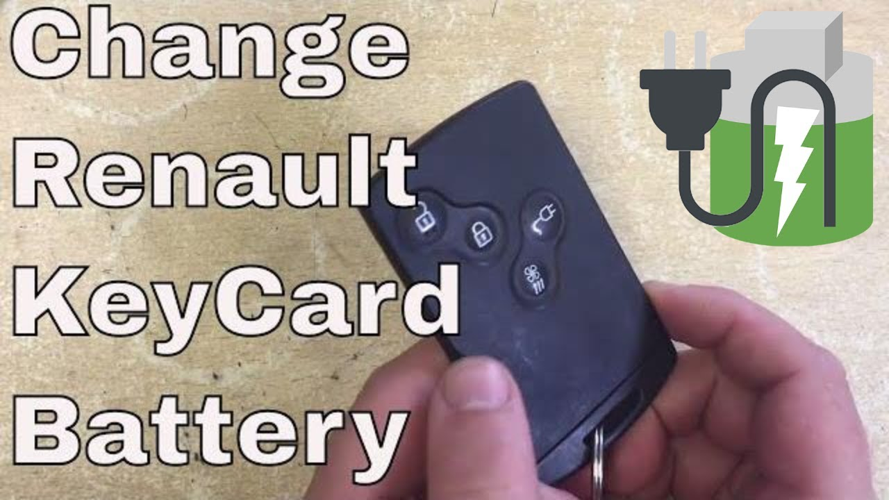 How To Change The Battery In A Renault Key Card Fob Youtube