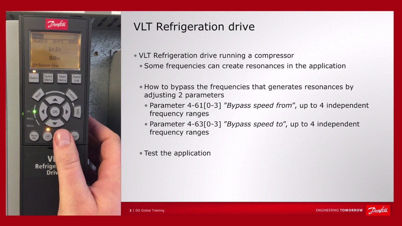 VLT® Refrigeration Drive FC 103 – Byp frequencies on