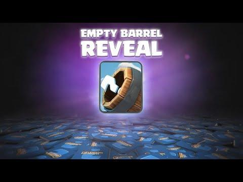 Clash Royale EMPTY BARREL REVEAL! (CLASH ROYALE CARD CONCEPT)