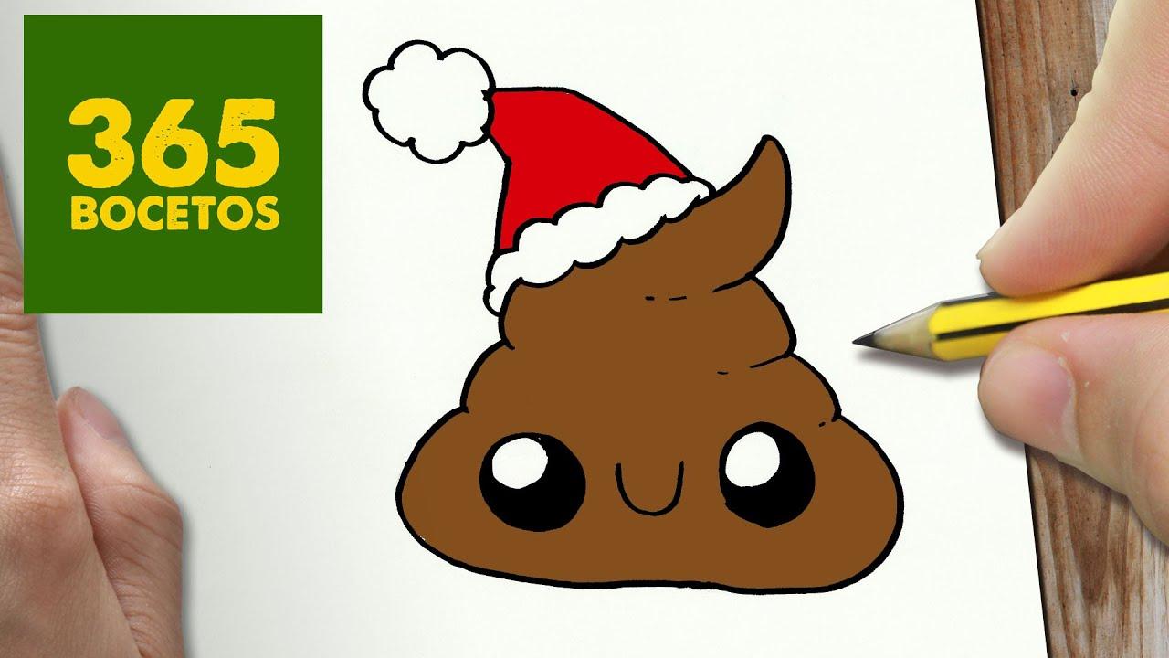 Como Dibujar Una Caca Para Navidad Paso A Paso Dibujos Kawaii Navidenos How To Draw A Poop Youtube
