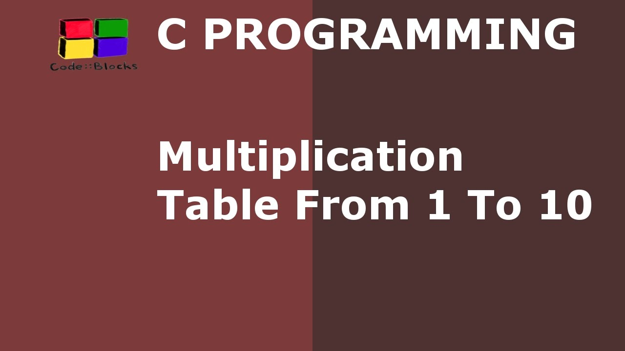 C program to print multiplication table from 1 to 10 hindi youtube c program to print multiplication table from 1 to 10 hindi gamestrikefo Choice Image