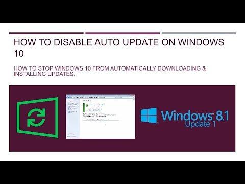 stop auto update windows 10 youtube