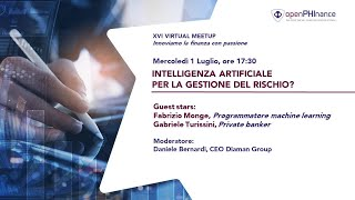 XVI Virtual Meetup   Artificial Intelligence per il controllo del rischio