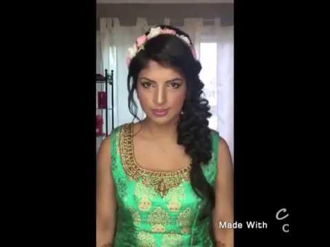 Mehndi Night Makeup : Beautiful indian mehndi night look hair and makeup youtube