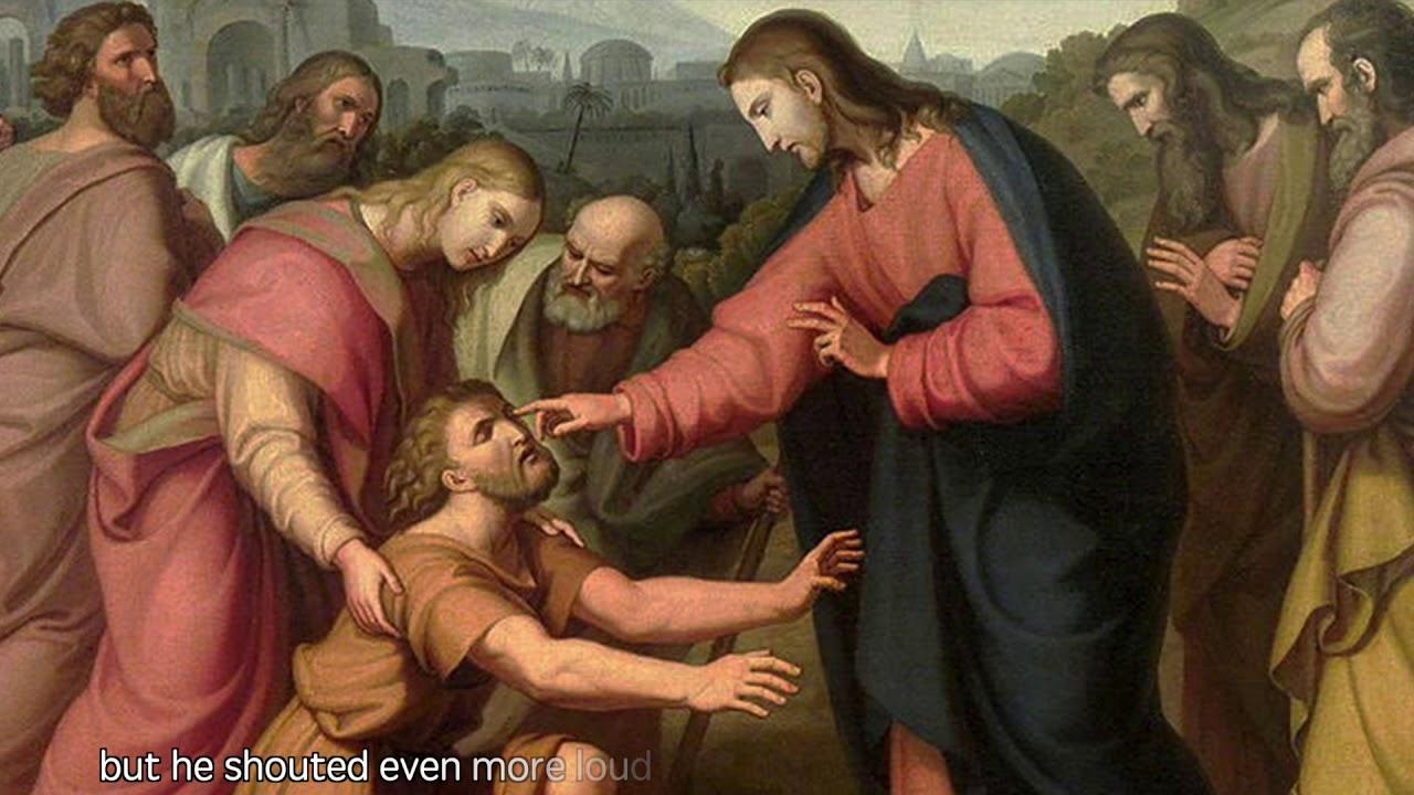 Luke [18:35-43] Jesus Heals a Blind Beggar Near Jericho - YouTube