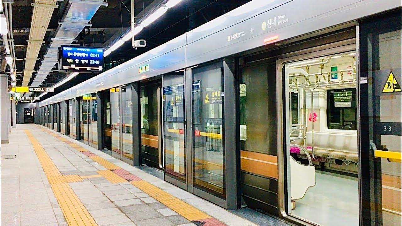 서울지하철 6호선 신내역 진입,발차 / Seoul Line6. Sinnae station