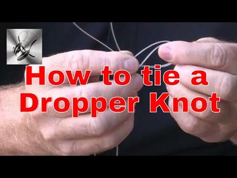 How to tie a dropper knot for a paternoster rig |The Hook and The Cook