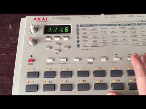 Akai s20 W/ Orig PSU and working floppy library MAX RAM 16mb 17 poor mans sp1200