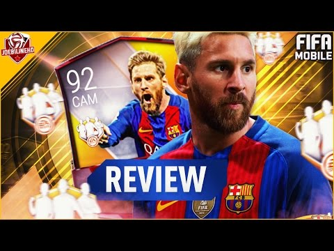 FIFA MOBILE TOTW 92 CAM TOTW IF MESSI REVIEW #FIFAMOBILE 92 CAM INFORM MESSI PLAYER REVIEW STATS