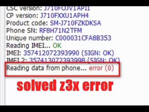 (solved) reading data from phone error z3x (unlock 2016 model phone)