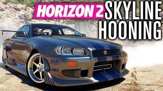 FAST & FURIOUS PAUL'S SKYLINE R34 HOONING! | Forza Horizon 2