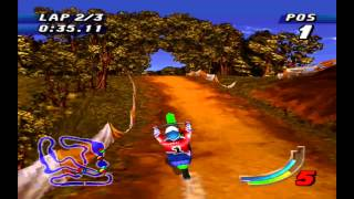 Jeremy McGrath Supercross '98 PS1 - Race 1 - Woodlands HD + Intro