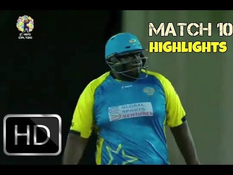CPL T20 2017 Match 10 - St Lucia Stars vs St Kitts and Nevis Patriots Extended Highlights HD
