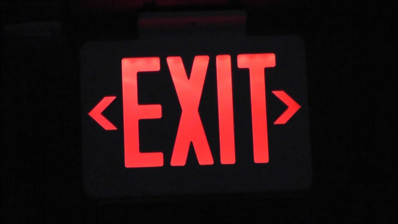 Red LED EXIT Sign - YouTube