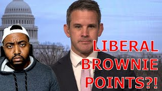 Never Trumper Adam Kinzinger Defends Liz Cheney KISSING Up To Liberal Media For Brownie Points