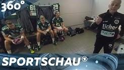 360°-Video: Handball-Bundesliga - Kabinenansprache in Wetzlar hautnah