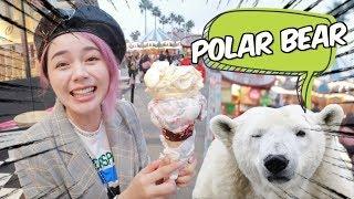 [美國Vlog] 終於看見北極熊!超美海邊樂園玩到想吐🤮    沛莉 Peri