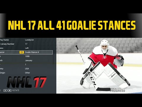 NHL 17 - ALL 41 Goalie Stances + Possible Effects