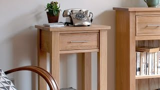 Rivermead Oak Telephone Table - Pinesolutions
