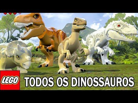 TODOS OS DINOSSAUROS do LEGO Jurassic World