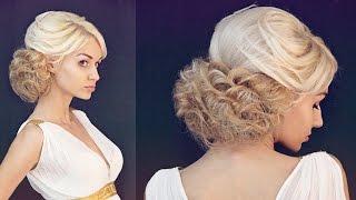 Объёмная причёска в греческом стиле | Авторские причёски | Hairstyles by REM | Copyright ©