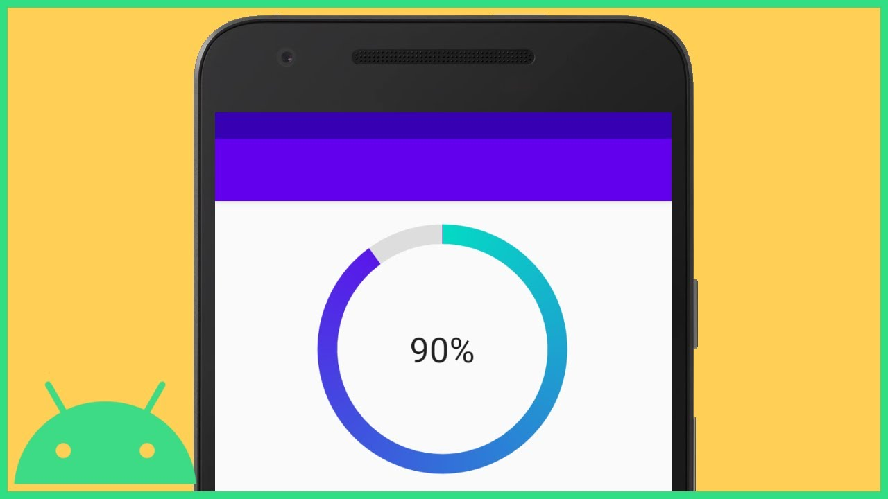 Circular Determinate ProgressBar with Background and Text - Android Studio Tutorial