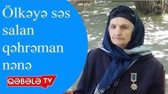 KƏFƏN PULUNU ORDUYA BAĞIŞLAYAN NƏNƏYƏ MEDAL VERİLDİ - QƏBƏLƏ TV