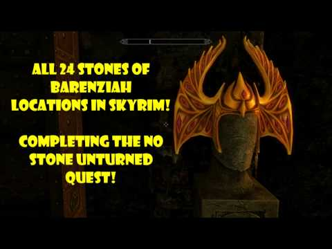 Skyrim Remastered - All 24 Stones of Barenziah Locations (Unusual Gems) - No Stone Unturned Quest