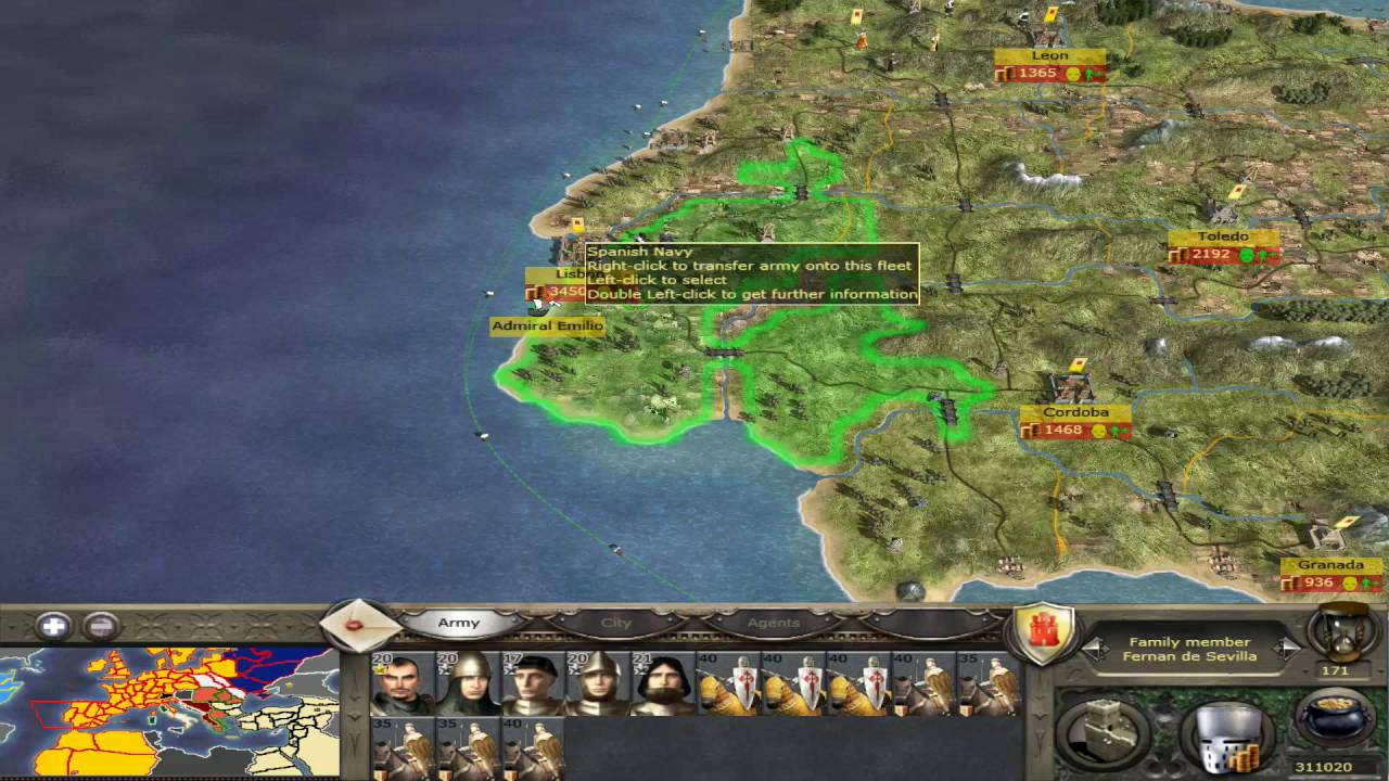 Medieval 2 Total war - How to get to the Americas