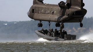 Een Boeing CH-47 Chinook heli als haven....