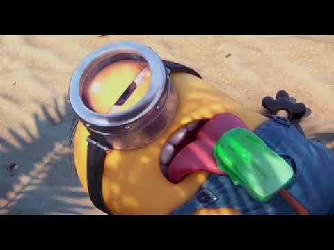 Миньоны на пляже мультфильм