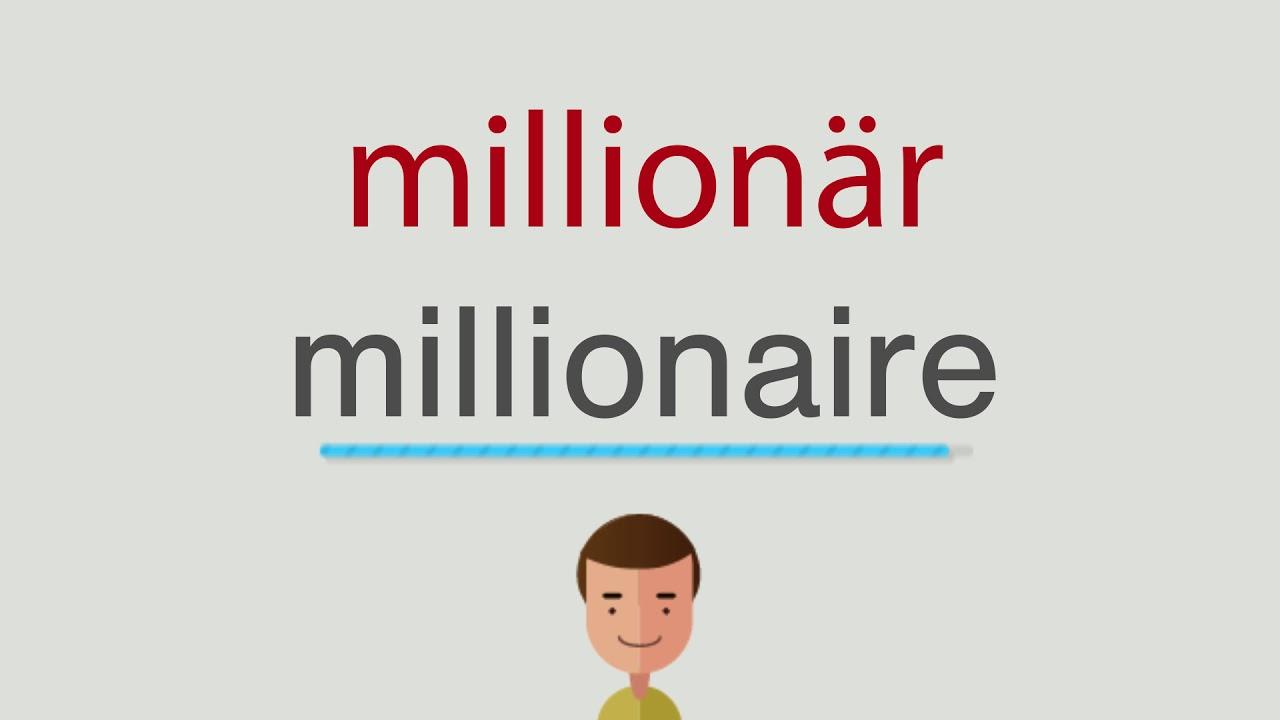 Wie heißt millionär auf englisch - YouTube