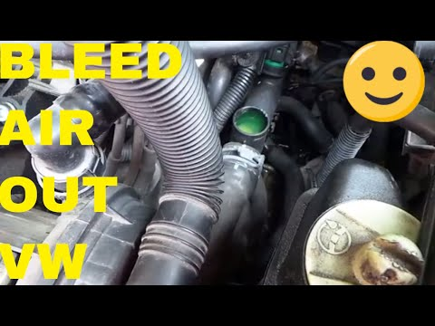 How To Bleed Air Out Of A Volkswagen Cooling System