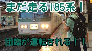 【まだ走る!!】185系の団体臨時電車が運転されました!!