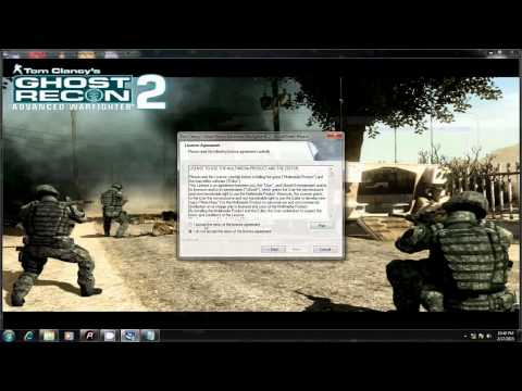 install GHOST RECON 2 with CDkey....