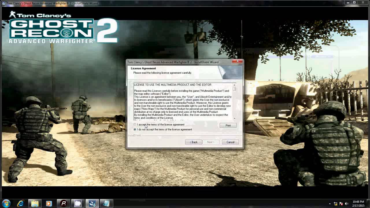 install GHOST RECON 2 with CDkey