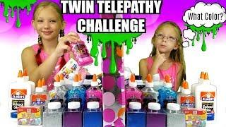 TWIN TELEPATHY CHALLENGE - Slime Edition!!!
