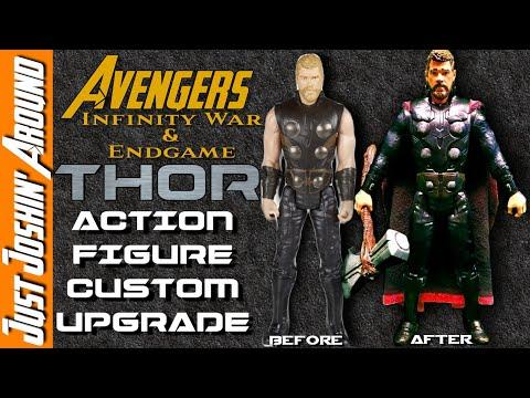 DIY Avengers Infinity War Thor Makeover // Custom Collectible Action Figure // Just Joshin' Around