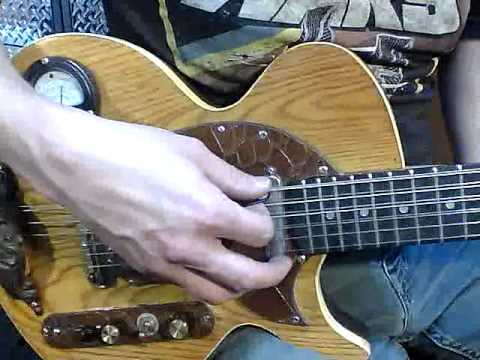 10 string steam punk guitar with meter youtube. Black Bedroom Furniture Sets. Home Design Ideas