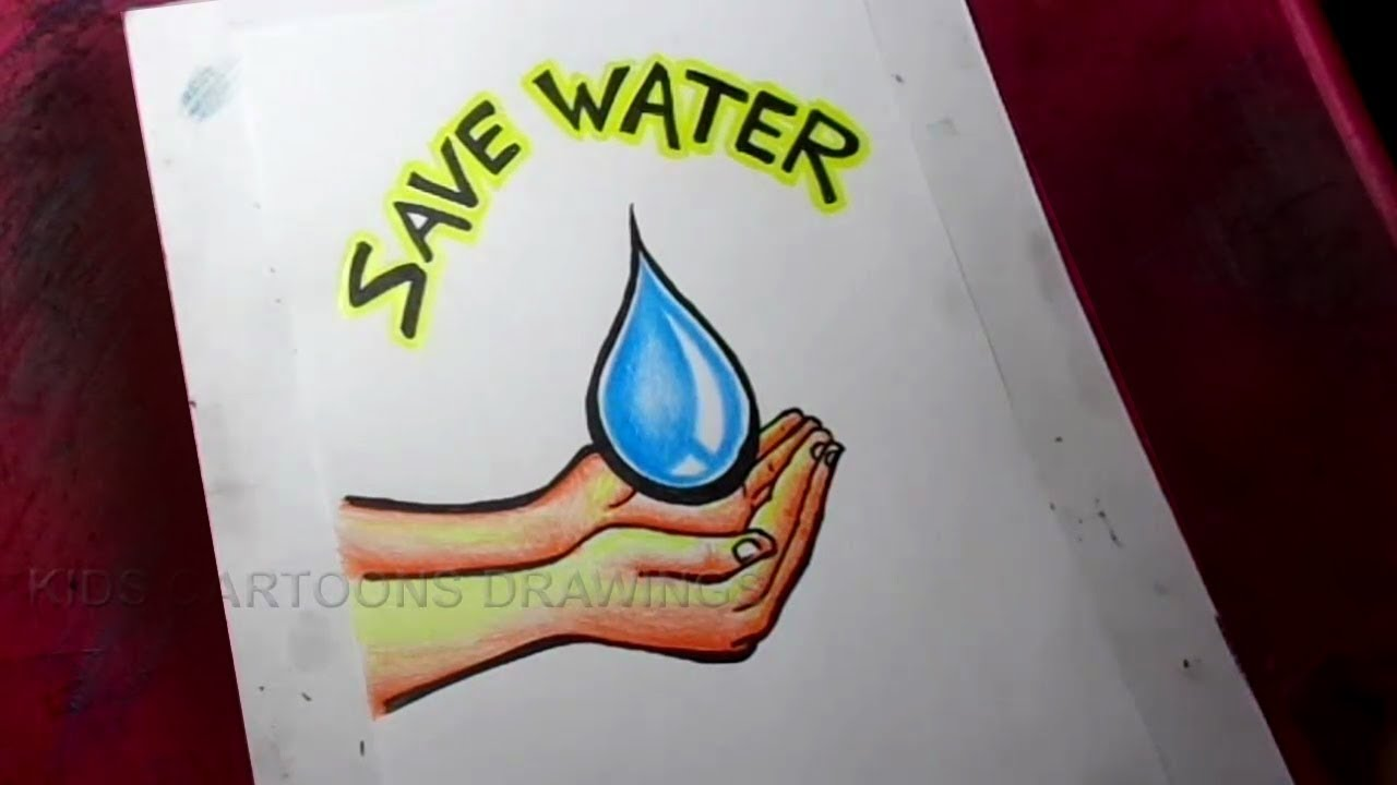 How To Draw Save Water Poster Drawing Youtube