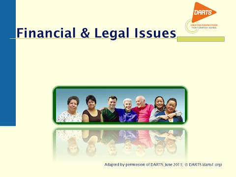 Financial and Legal Issues Part 1